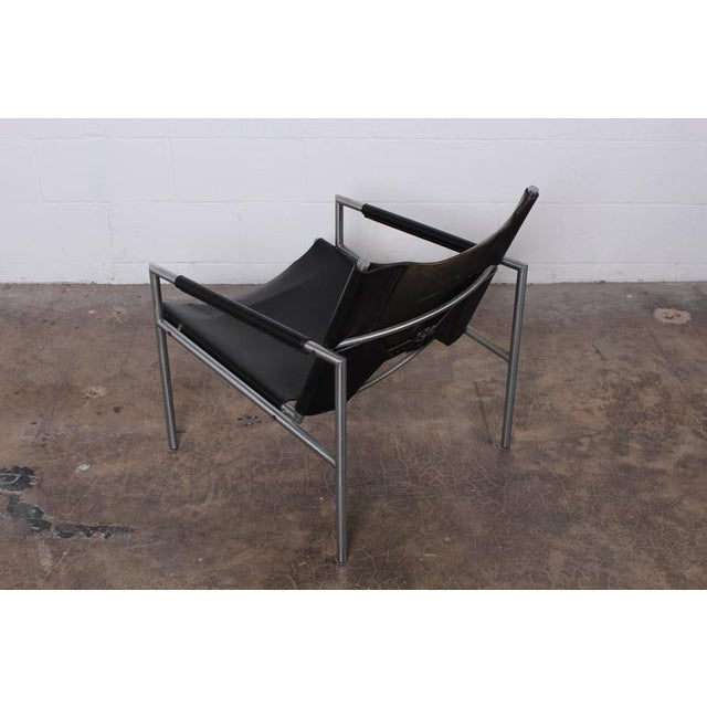 Pair of Leather Lounge Chairs by Martin Visser - Image 5 of 10