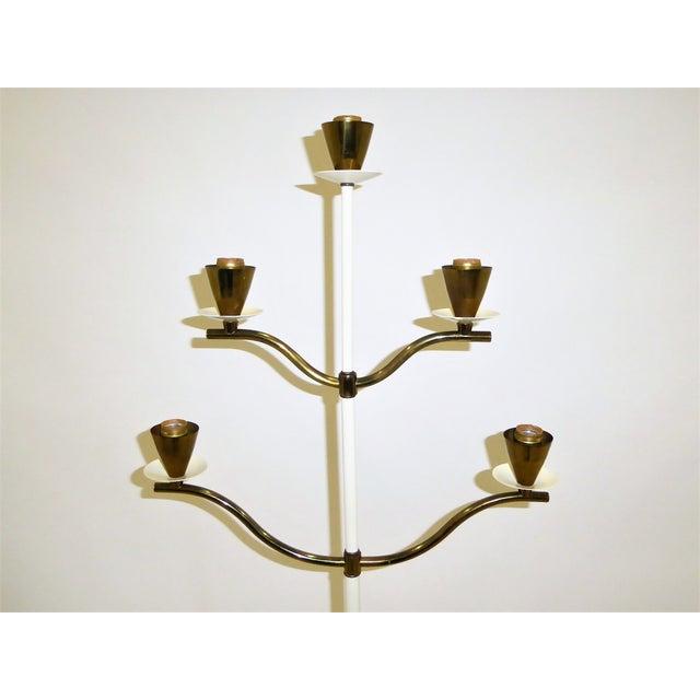 Brass Modern Italian Five Light Floor Lamp 1940s For Sale - Image 7 of 13