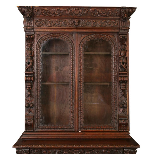 Antique French Buffet Hunting Style Cabinet - Image 2 of 8