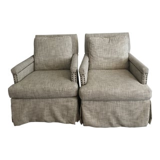 Transitional Cr Laine Clara Chairs - a Pair For Sale