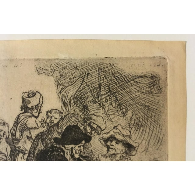 "Rembrandt ""The Pancake Woman"" Original Etching - Image 6 of 9"