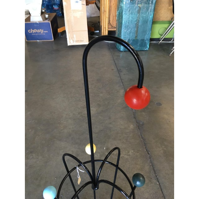 George Nelson George Nelson Inspired Iron Wire Umbrella Stand For Sale - Image 4 of 5