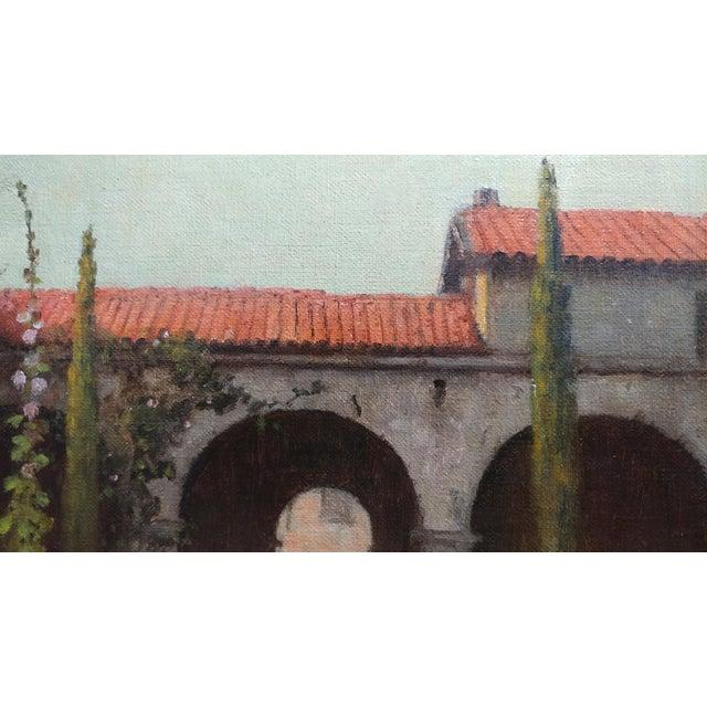 William Barr -Mission Capistrano c1920s -Impressionist California Oil painting For Sale - Image 4 of 10