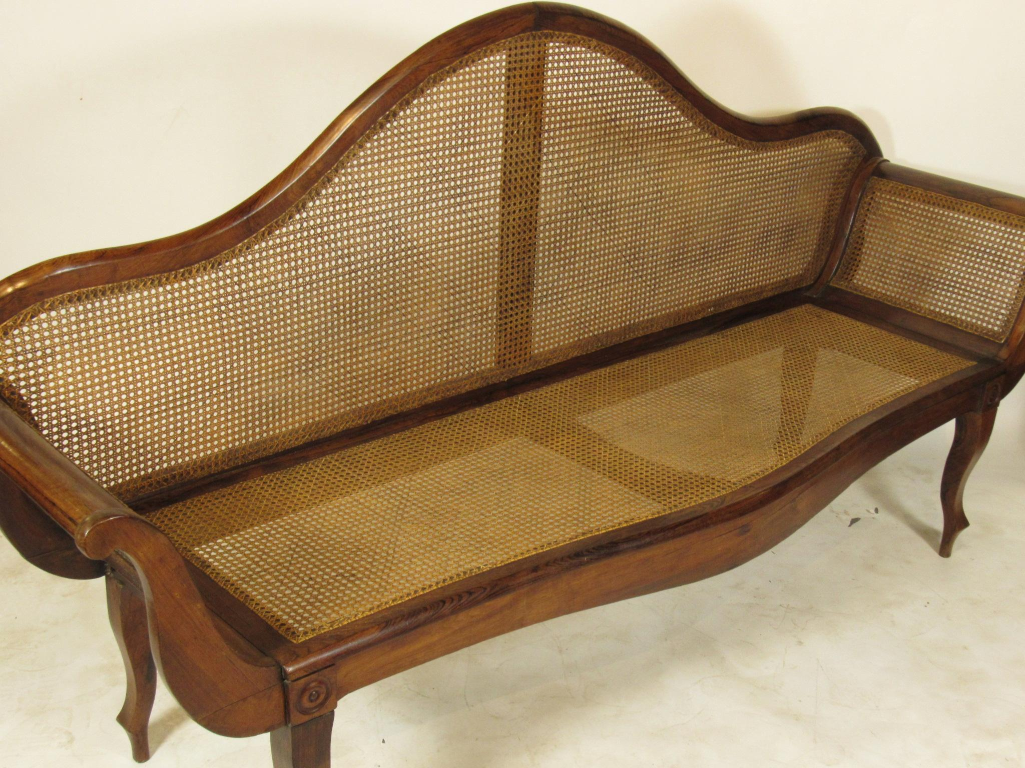 19th C. British Colonial Rosewood Settee   Image 3 Of 13