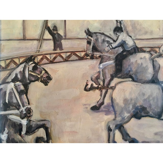 Arthur Smith 'Trick Riding' Original From Circus Series Painting For Sale - Image 9 of 12