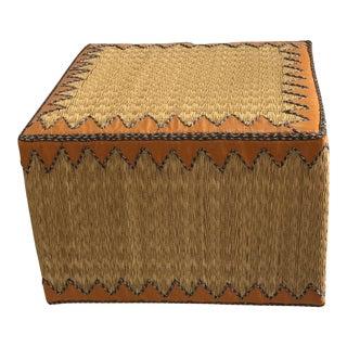 Handmade Reed Ottoman