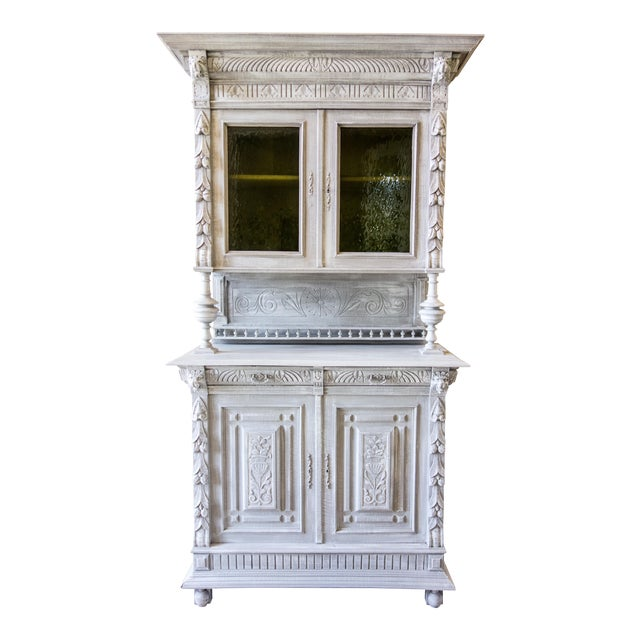 Renaissance Revival Painted Carved Sideboard - Image 1 of 11