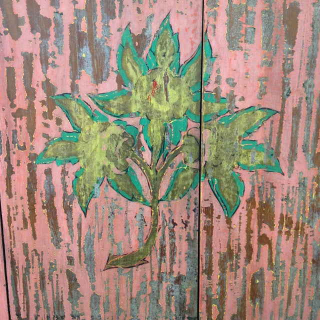 Hand-Painted Crown and Flowers Wood Panel - Image 7 of 11