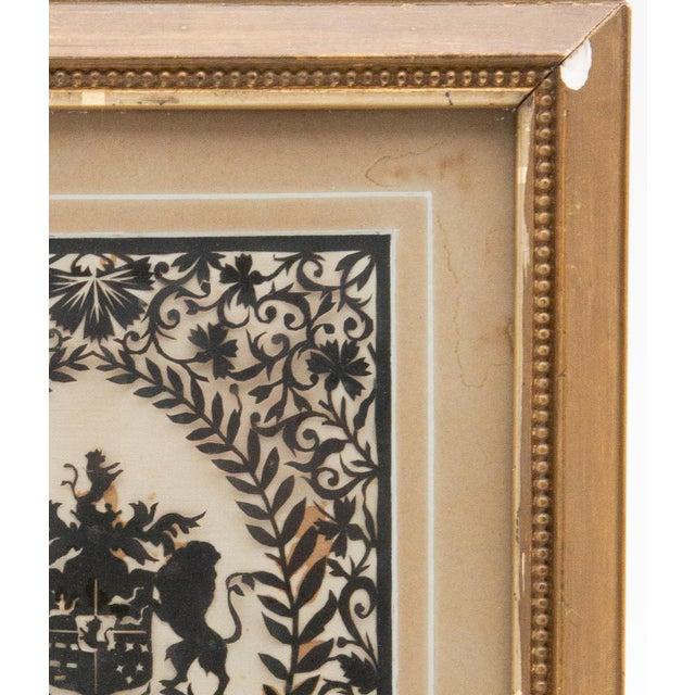 Framed Handcut Heraldic Shield Design For Sale In New York - Image 6 of 7