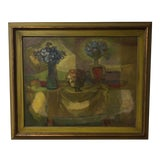 Image of Oil on Masonite Still Life Painting For Sale