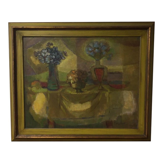 Oil on Masonite Still Life Painting For Sale