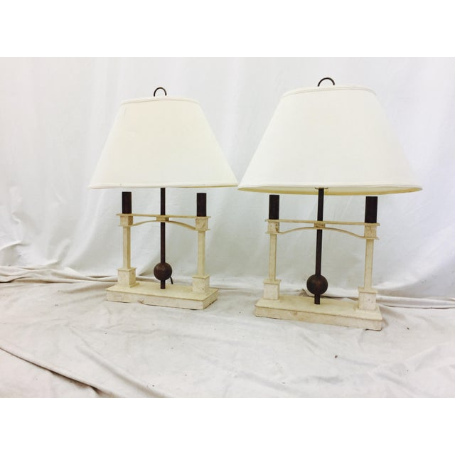 Vintage Mid-Century Modern Art Deco Lamps - a Pair For Sale - Image 9 of 10