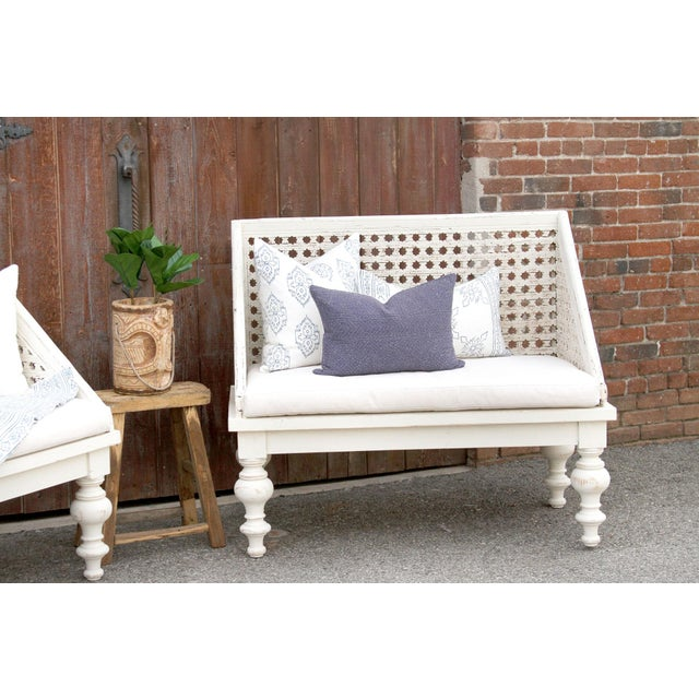 Pair of Polo Lounge Benches For Sale - Image 4 of 9