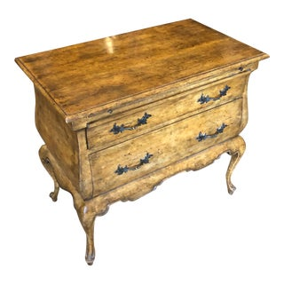 Minton Spidell French Country Nightstand Commode W Silk Lined Drawers For Sale