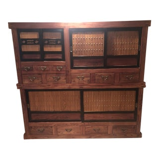 Authentic Japanese Tansu Cabinet For Sale