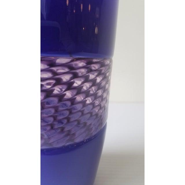Steve Gibbs Blown Glass Vase for Corning Museum of Glass For Sale - Image 9 of 13