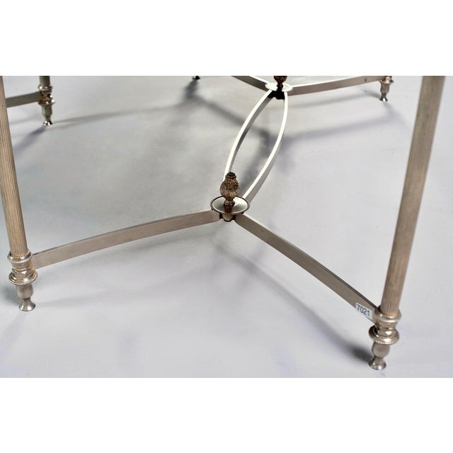 French French Maison Baguès Style Black Glass Top Cocktail Tables - Pair For Sale - Image 3 of 11