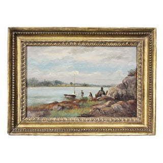 Hudson River School Oil on Panel Painting For Sale