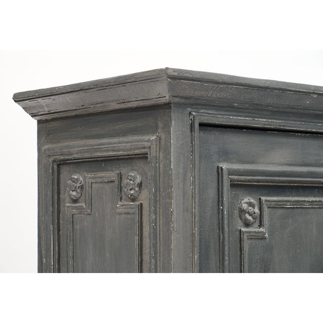 Louis XIV Style Gray Painted Bonnetiere For Sale - Image 4 of 11