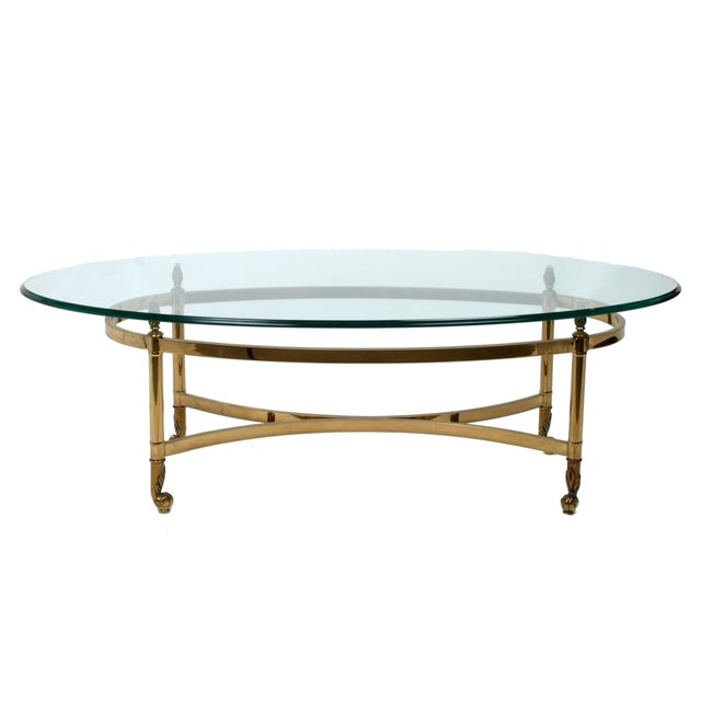 Decorative French Glass & Brass Table - Image 3 of 10