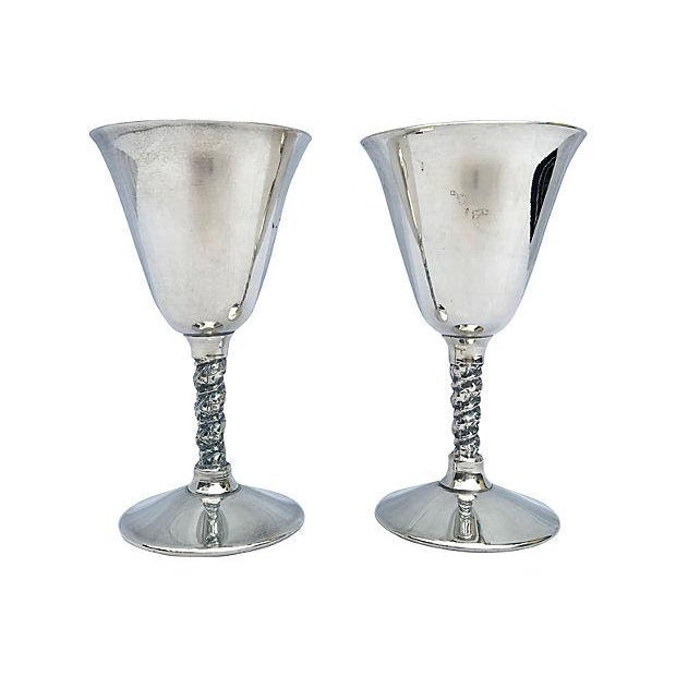 Yugoslavian Silver Plate Goblets - Image 1 of 4