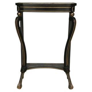 Late 19th Century Vintage English Regency Style Console Table For Sale
