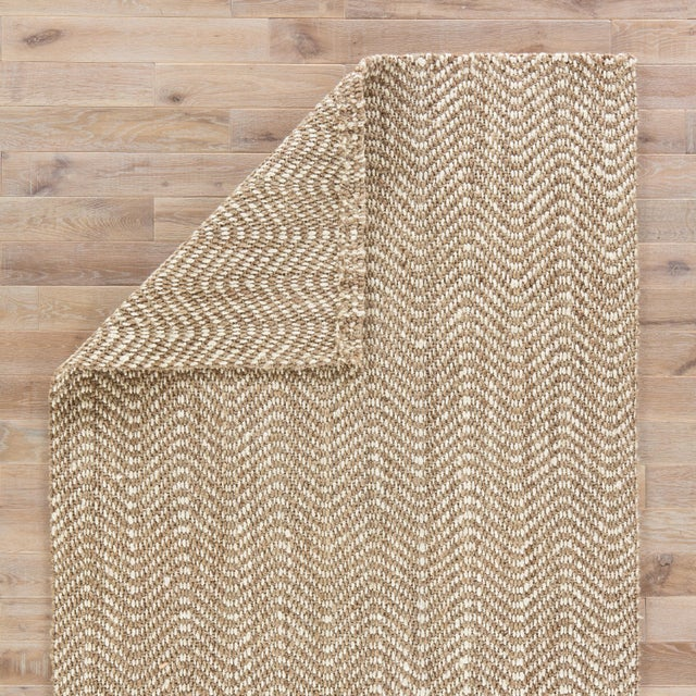 Jaipur Living Alix Natural Chevron Taupe/ White Area Rug - 5′ × 8′ For Sale - Image 4 of 6