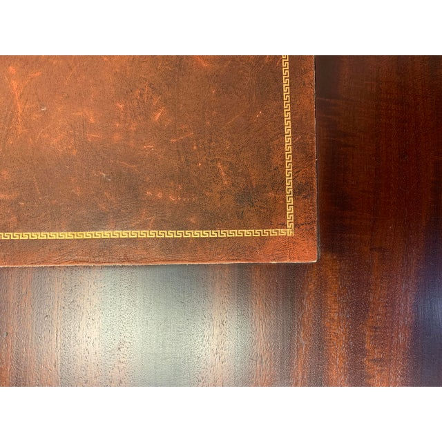 19th Century Chippendale English Hepplewhite Style Drop Top Desk For Sale In West Palm - Image 6 of 12
