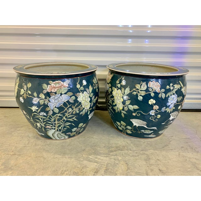 Pair of Blue Jardinieres For Sale - Image 13 of 13