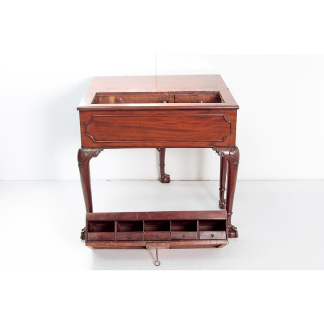 A George II Mahogany Harlequin Table For Sale - Image 10 of 13