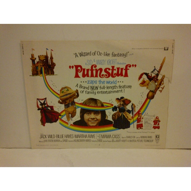 """A Vintage Movie Poster -- """"Pufnstuf ... Zaps The World"""" -- Starring -- Jack Wild And Bill Hayes -- 70/199 -- Copyright..."""