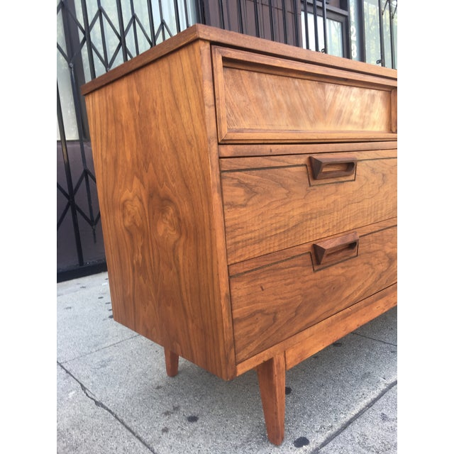 Mid-Century Dresser With Sculpted Pulls - Image 6 of 11