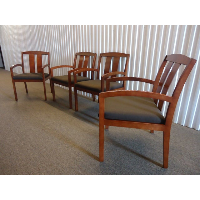Stunning Set of Four Guest/Dining Arm Chairs, Well Constructed High-end Quality, modern Great for Home or Office...