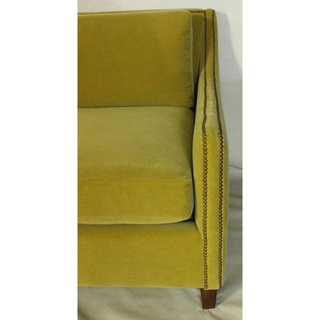 Brass Custom Made Deep Seated Sofa For Sale - Image 7 of 11