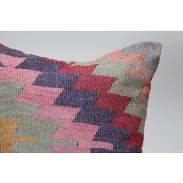 Diamond Pattern Kilim Inspired Print Pillow - 18'' - Image 4 of 8