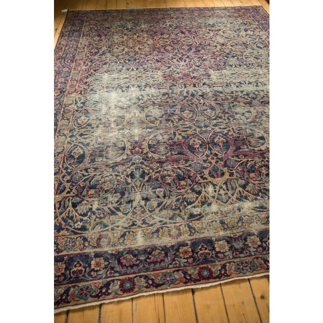"Textile Vintage Yezd Carpet - 9'2"" X 11'9"" For Sale - Image 7 of 13"