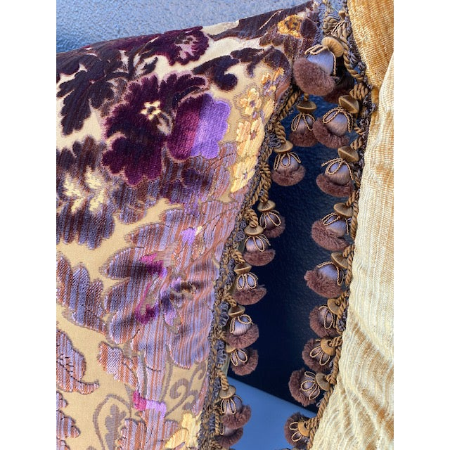 Purple Luigi-Bevilacqua Silk Velvet Pillows - A Pair For Sale - Image 8 of 9