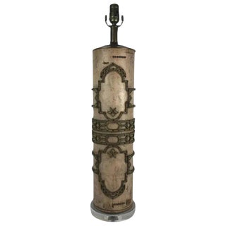 Wallpaper Roller Table Lamp For Sale