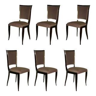 1940s French Dining Chairs - Set of 6 For Sale