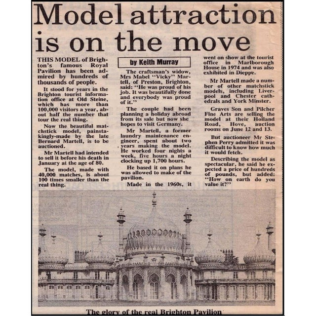 1960s Royal Brighton Pavilion Matchstick Architectural Model by Bernard Martell For Sale - Image 5 of 13