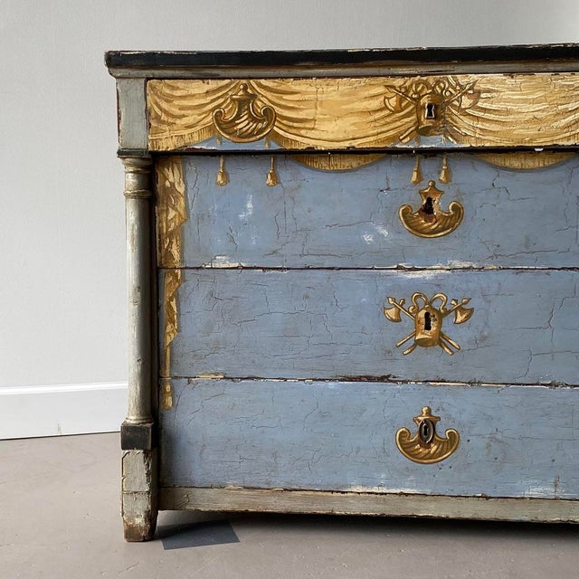19th C. Swedish Painted Chest For Sale In West Palm - Image 6 of 8