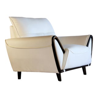 Pasargad DC Charlotte PU Leather Armchair