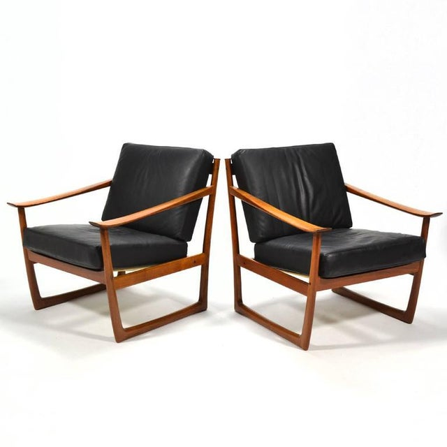Peter Hvidt & Orla Mølgaard Nielsen Lounge Chairs by France & Son - Image 4 of 10