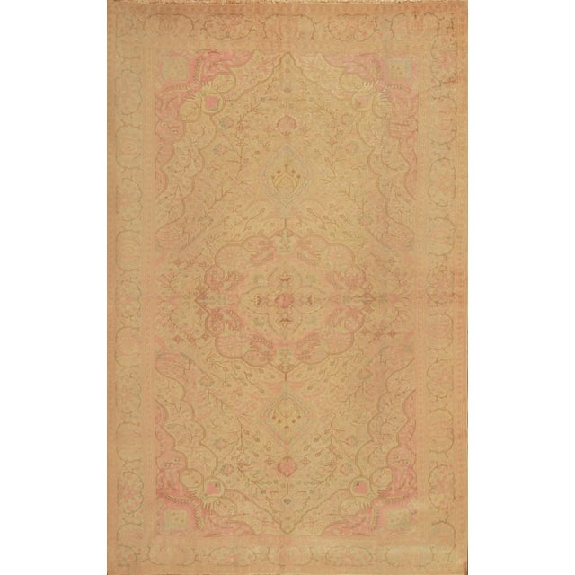 Antique Hand Knotted Pink Floral Sivas Rug - 6' x 9' For Sale In New York - Image 6 of 6