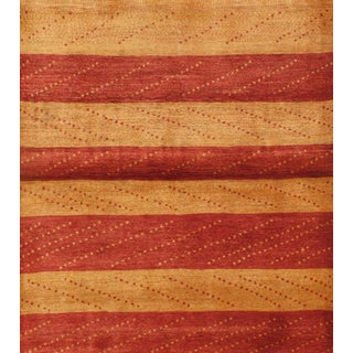 Striped Persian Gabbeh Rug - 4′6″ × 5′ For Sale