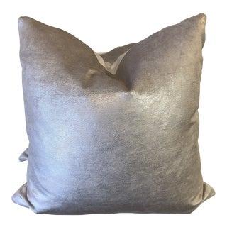 """Fabricut """"Polish Velvet"""" Cashmere Velvet 22"""" Pillows-A Pair For Sale"""