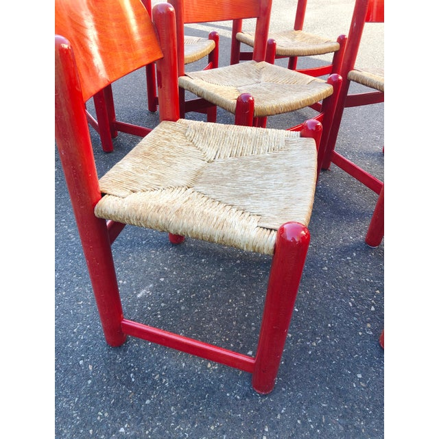 Hank Lowenstein Rush Seat Dining Chairs Made in Italy- Set of 8 For Sale - Image 4 of 13