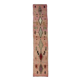 Vintage Pink Berber Runner For Sale