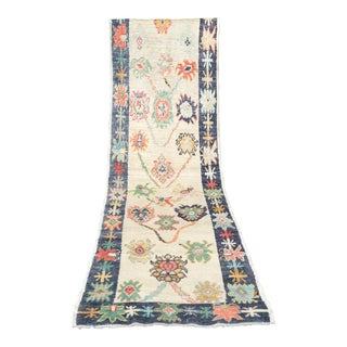 'Yannik' Turkish Oushak Runner - 3′ × 12′9″ For Sale