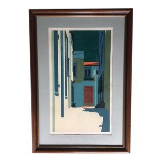 """""""Red Door. Streets of Hydra"""" Limited Edition Lithograph by Betsy Bates For Sale"""